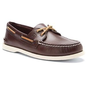 SPERRY TOPSIDER classic brown boat shoes LEATHER